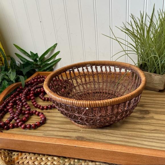Vintage Boho Weave Wall Basket